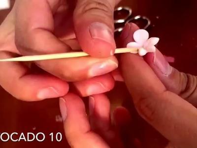 Como hacer flores de porcelana