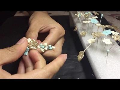 Como montar un tocado de porcelana 4