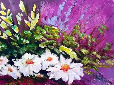 Como pintar flores con acrilico paso a paso | Como pintar con acrilico