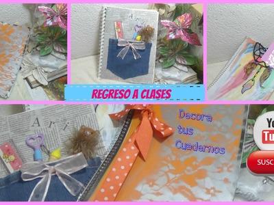 Decora tus cuadernos DIY ♥. 3 Ideas ♡ REGRESO A CLASES ♡