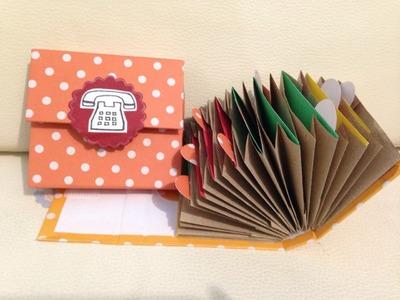 Directorio telefonico. Scarpbook con bolsas de papel