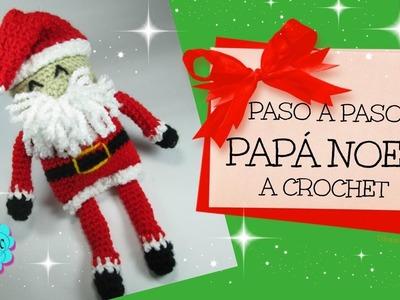 Papá Noel a crochet. principiantes