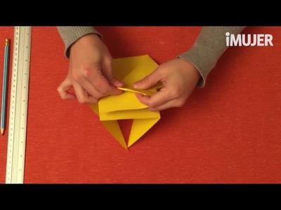 Portalápices de origami | @iMujerHogar
