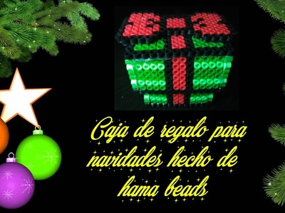 Caja para regalar | Navidad | Hama beads | Perler beads | DIY