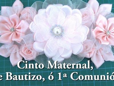 DIY#Cinto Maternal, de 1ª Comunión, o de Bautizo #DIY-Maternal Cinto, 1st Communion or Baptism