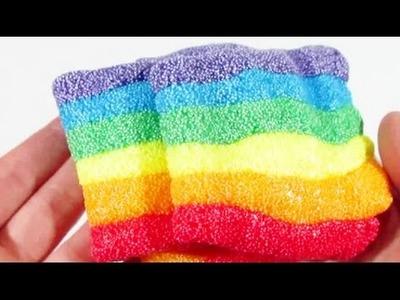 Arcoiris de masa de espuma - foam clay rainbow colors