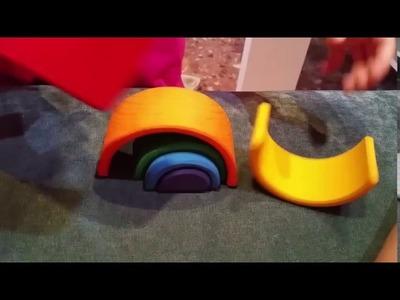 ARCOIRIS GRIMM. Arcoiris de WALDORF MONTESSORI. Bloques madera pequeño juego wooden rainbow