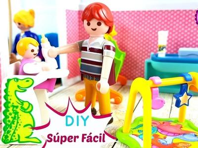 Casita de muñecas con cartulina para juguetes Playmobil ⭐️  Manualidades fáciles para niños