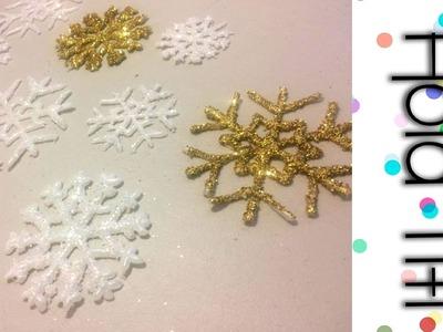 Cómo hacer copos de nieve con silicon - Hola Titi DIY