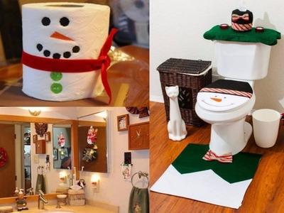 Decoracion de baños para navidad - Decorando el Baño para Navidad - DIY Navidad 2016
