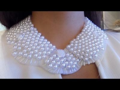 DIY Collar de perlas