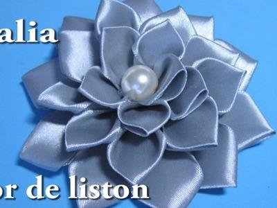 #DIY -# Dalia, flor de liston paso a paso#DIY - # Dalia, flower liston step