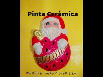 DIY pinta Ceramica navideña Santa Claus Paint christmas ceramics
