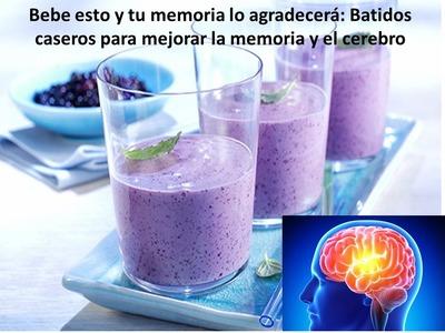 Bebe esto y tu memoria lo agradecerá: Batidos caseros para mejorar la memoria y el cerebro