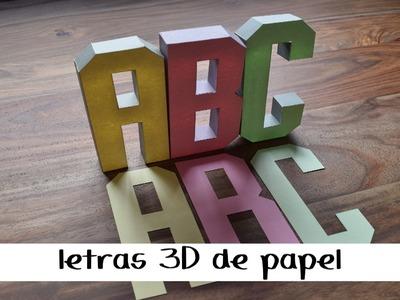 COMO HACER LETRAS 3D DE PAPEL