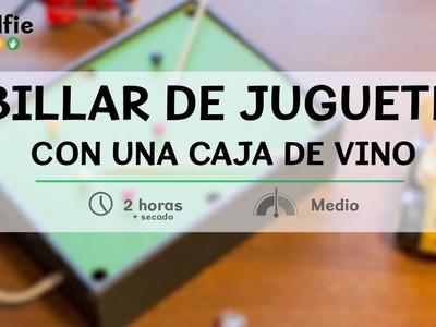 Cómo hacer un minibillar con una caja de vino · Handfie DIY