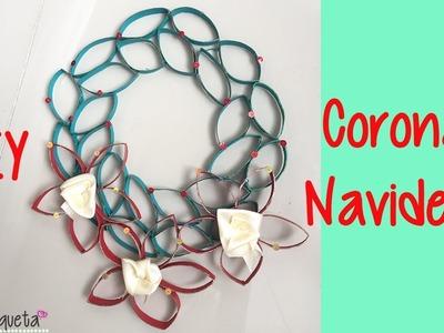 Cómo hacer una corona Navideña con cartón. Christmas ornament
