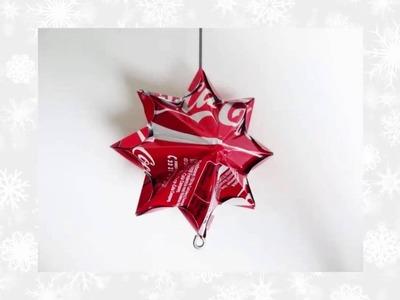 Estrella de Coca Cola - Cómo hacer una estrella de la lata de Coca Cola