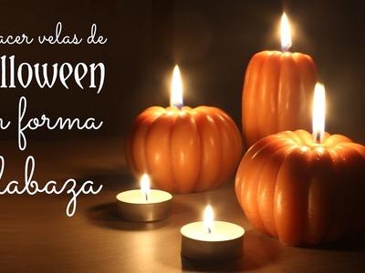 Hacer velas para HALLOWEEN con forma de calabaza