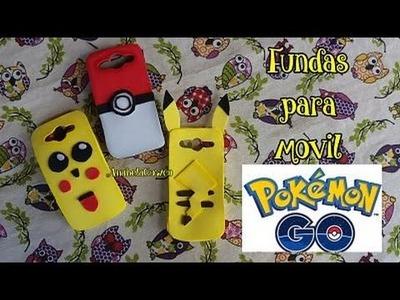 POKEMON GO Pikachu fundas para móvil o celular de goma eva o foami DIY Cómo se hace