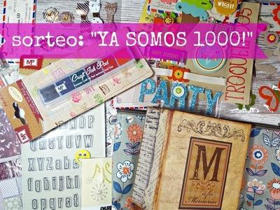 """Sorteo de scrapbook Internacional """"MIL SUSCRIPTORES""""!!"""