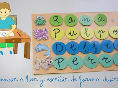 Aprender a leer y escribir de forma divertida - Learn to read and write in a fun way