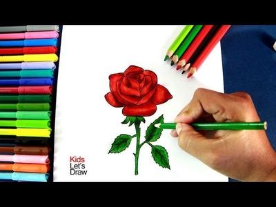 Como dibujar una rosa paso a paso   How to draw a rose - 1.10
