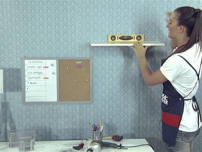 ¿Cómo instalar un estante de pared? - Manos a la obra