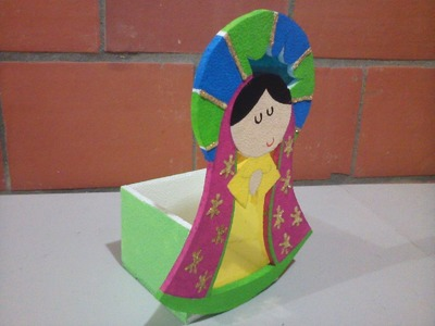 Farol para alumbrado navideño, Virgen de Guadalupe
