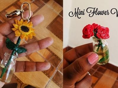 Floreros Miniatura en Porcelana Fría y Resina: Girasol & Rosas   Miniature Flower Vases Polymer Clay