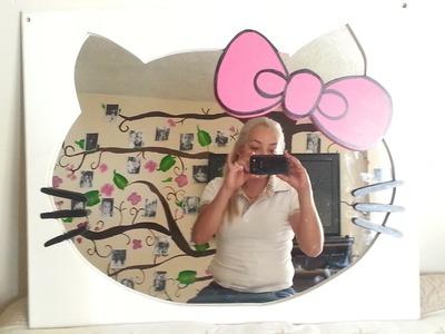 Haz un espejo de Hello Kitty fácil y económico