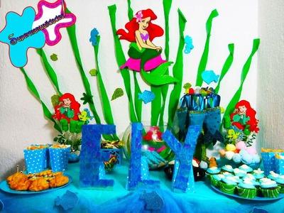 Ideas para una fiesta de LA SIRENITA (Candy bar.mesa de dulces)