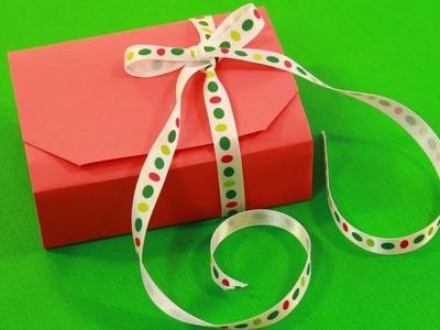 Origami cajita de regalo - Como hacer cajita de regalo?