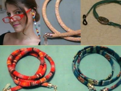 Como hacer cordones para gafas fácil. !!No las pierdas este verano!!