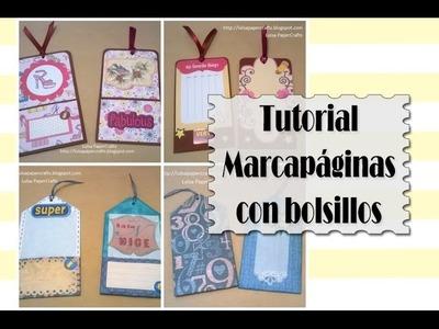 Cómo hacer Marcapáginas con bolsillos - DIY Tutorial