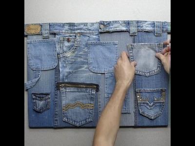 Cómo reciclar jeans para hacer un organizador   @VixCreatividad