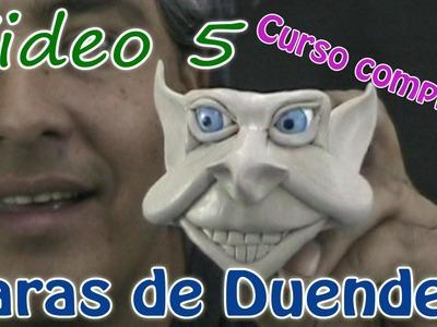 Como hacer la cara de un duende Video #5