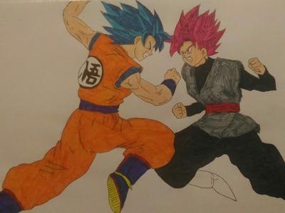 Dibujos Dragon Ball Super entrega 9   Dibujando a Black Goku Rose