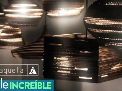 Estudio Amaqueta - Lámparas de Cartón Corrugado - Chile Increible