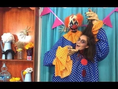 ¡EL DISFRAZ MÁS CREATIVO! | DIY PAYASO ASESINO CON TU CABEZA EN MANO