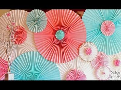 Roseta de papel - Cómo hacer una Roseta de papel facil y divertido
