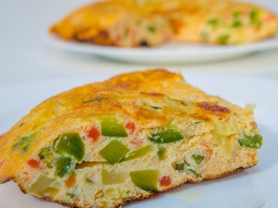 Tortilla de Verduras - Receta con Zapallito verde, Tomate y Cebolla