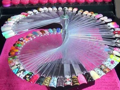 Una idea de como hacer tu propio carrusel exhibidor de uñas