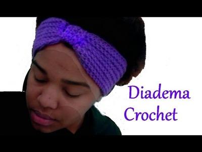 Como hacer Banda para el cabello Super fácil y calentita a Crochet *headband Crocher*