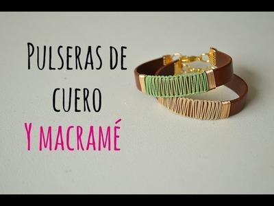 Cómo hacer una pulsera de cuero con nudos macramé