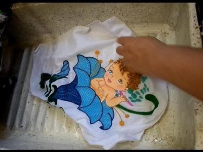 Lava tus servilletas de bordado fantasia sin cloro