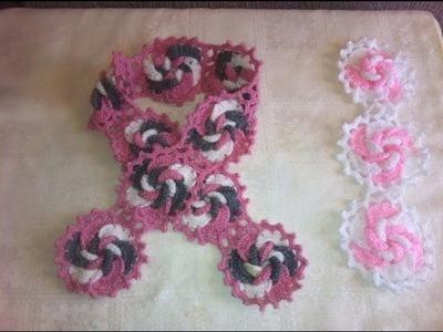 Bufanda en crochet fácil y rápido parte 2 de 2