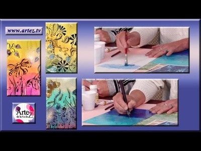 Cómo pintar cuadros con técnica mixta