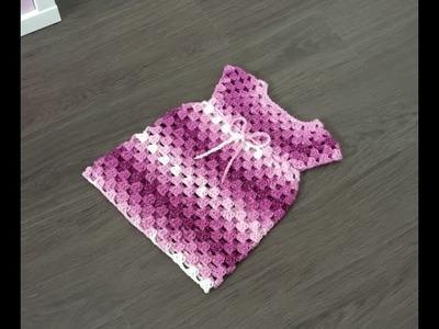 Vestido granny Crochet Explicación para tejerlo en todas las tallas