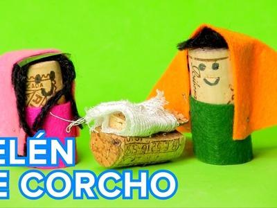 Belén de Corcho | Manualidades de Navidad para niños